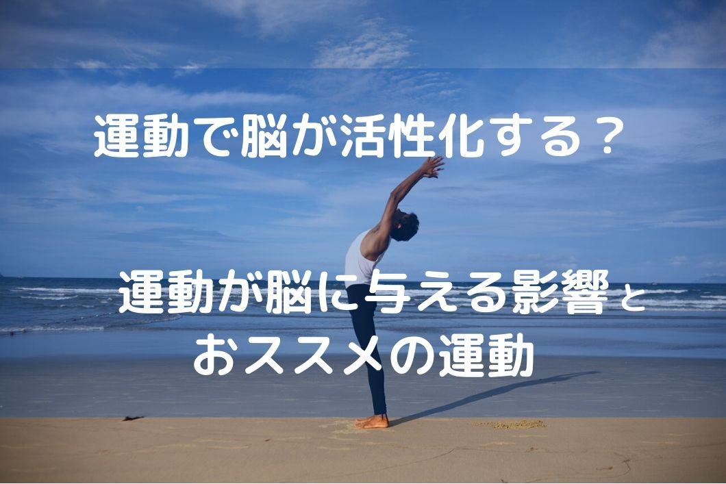 運動が脳に与える影響やおススメの運動